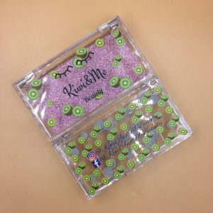 Wholesale special custom fruit pattern mink eyelashes packaging