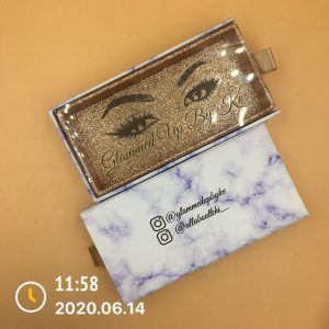 printed eyelash packaging boxes