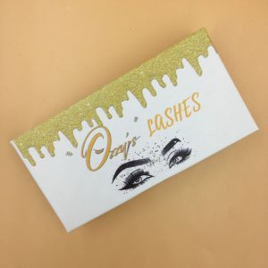 Golden custom water drop eyelash packaging