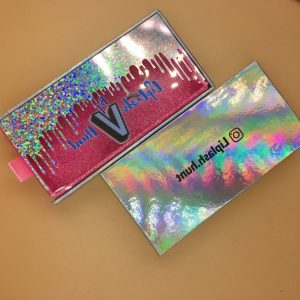 Wholesale silver glitter dripping eyelashes cases