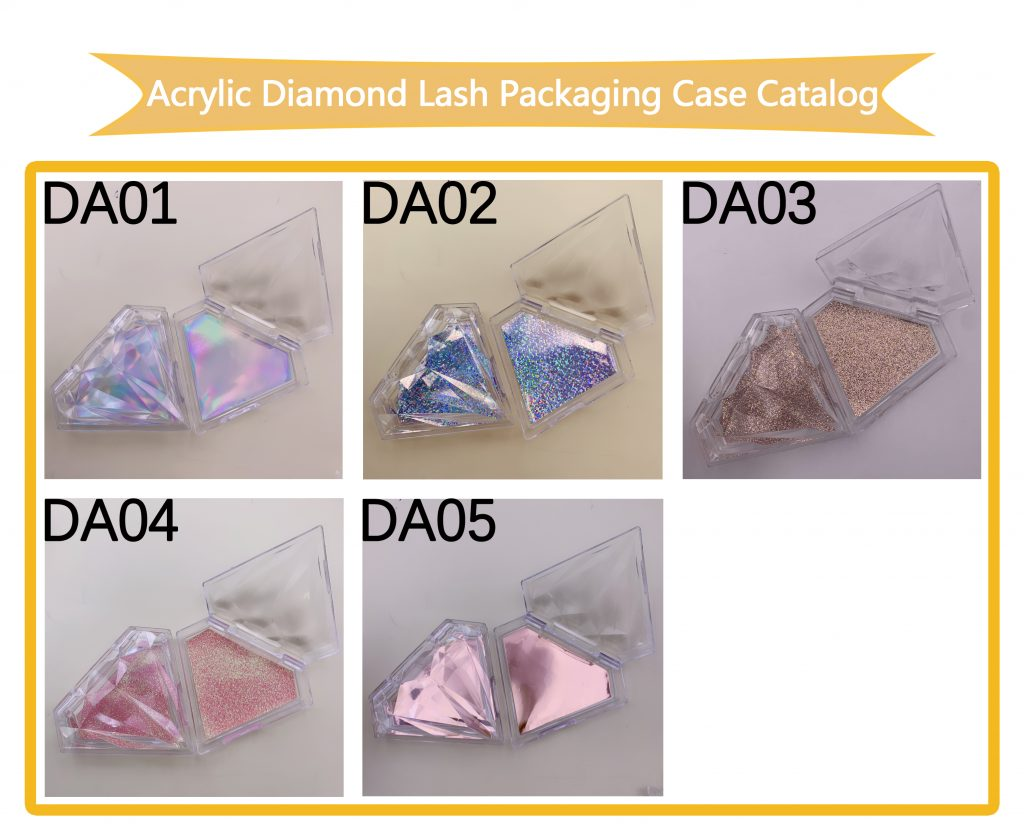 Acrylic Diamond Eyelash Packaging Box