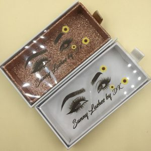 Box Custom Logo Empty Eyelash Packaging