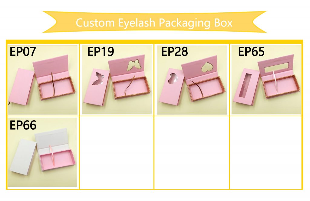 The latest pink mink eyelashes packaging box
