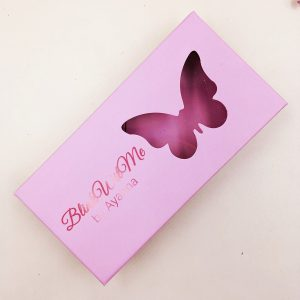 Pink Butterfly Window Eyelash Packaging Box