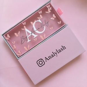 Wholesale mink eyelash extension box with printing private logo