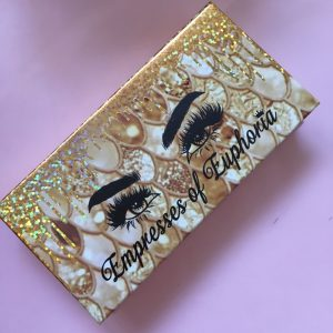 Latest Gold Fish Pattern Mink Lash Packaging