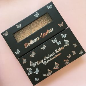 Customized Packaging Of Black Butterfly Window Mink Eyelashes