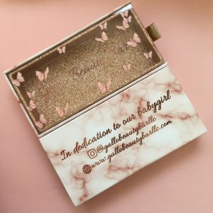 Red boxprivate label eyelash packaging